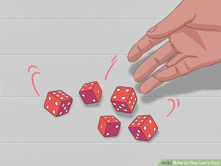Figure out who will start the game by each rolling 5 dice.