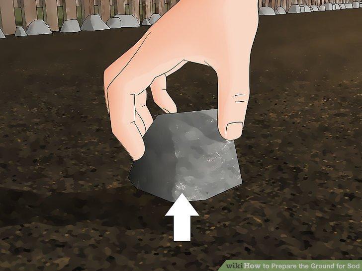Beseitigen Sie etwaigen Schmutz auf dem Boden, während Sie auf die Bodentestergebnisse warten.