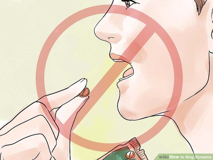 Verwenden Sie keine betäubenden Produkte im Hals.