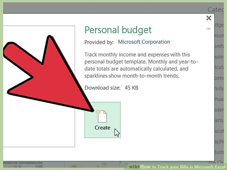 How to Track your Bills in Microsoft Excel: 13 Steps