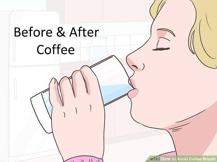 Trinken Sie vor und nach dem Kaffee viel Wasser.