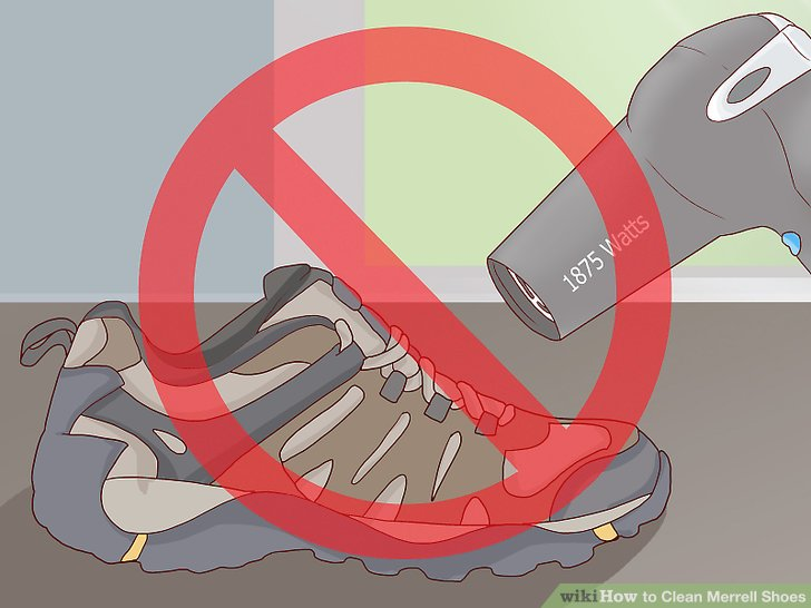 Do not expose your shoes to heat after washing or drying them.