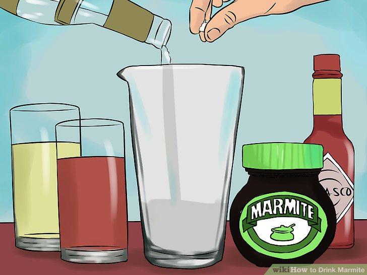 Legen Sie alle Zutaten in ein Mixglas und fügen Sie Eis hinzu.