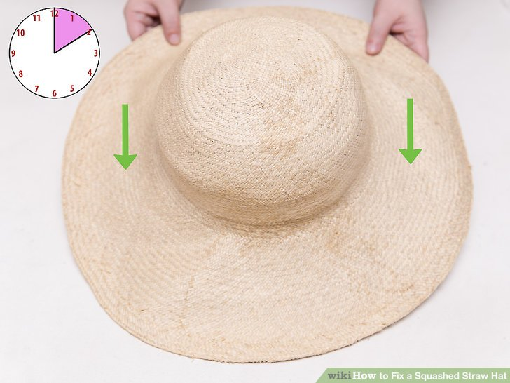 Let the hat sit and dry out.