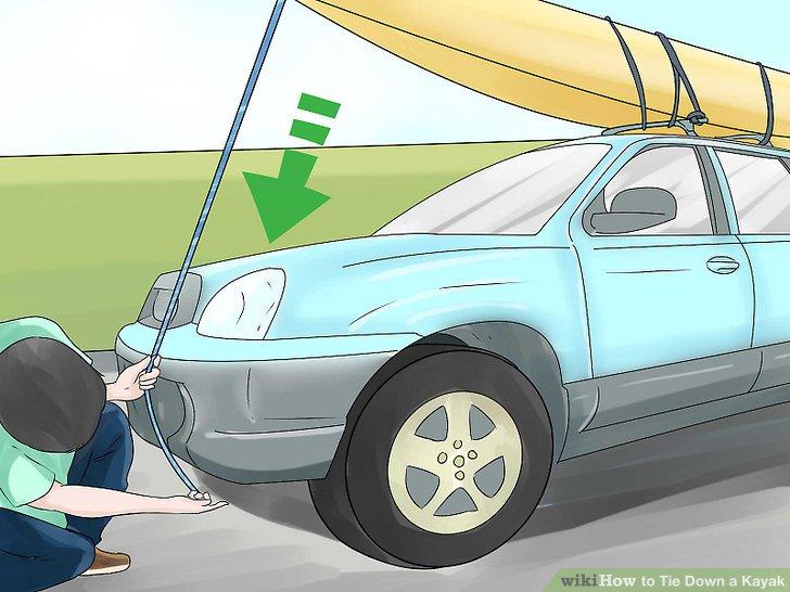 Haken Sie das andere Ende der Bugleine an den Abschlepphaken unter Ihrer Stoßstange.