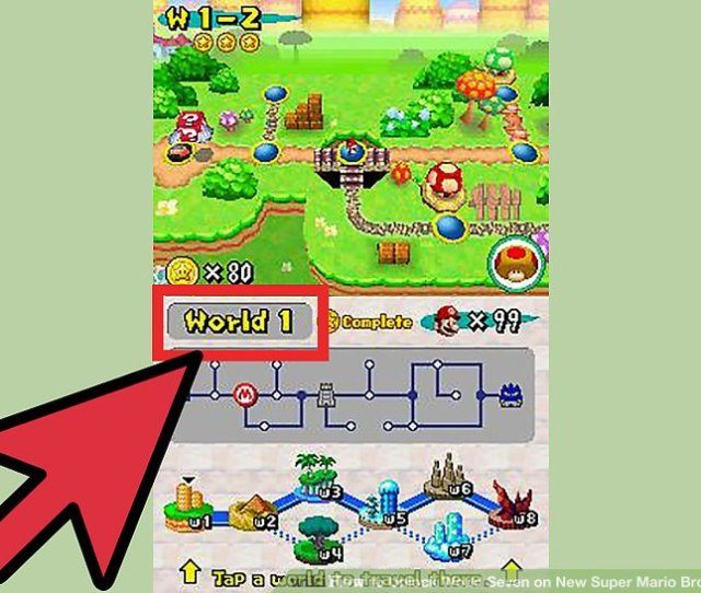 Image Titled Unlock World Seven On New Super Mario Bros Ds Step 1