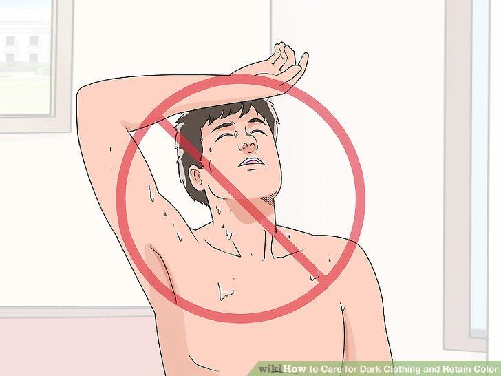 Stellen Sie sicher, dass Sie sauber sind, bevor Sie Ihre Kleidung tragen.