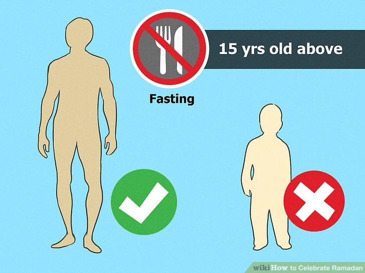 Warten Sie, bis Sie alt genug zum Fasten sind.