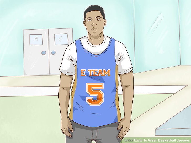 Wear a shirt under your jersey to avoid being too revealing.