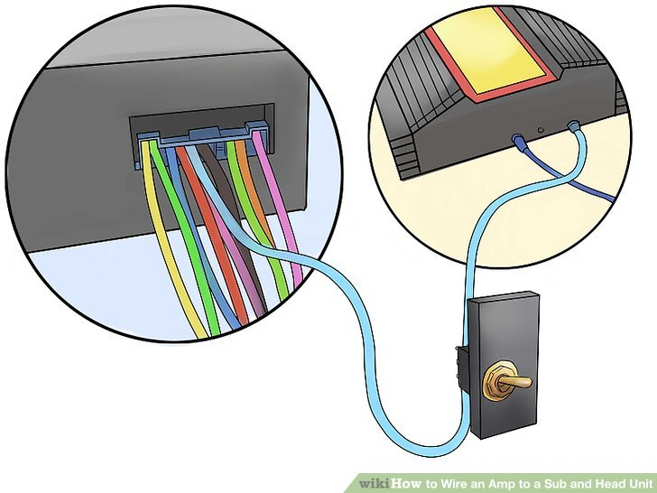 2 prong toggle switch wiring diagram ruger 10 22 trigger assembly how to wire an amp a sub and head unit: 12 steps