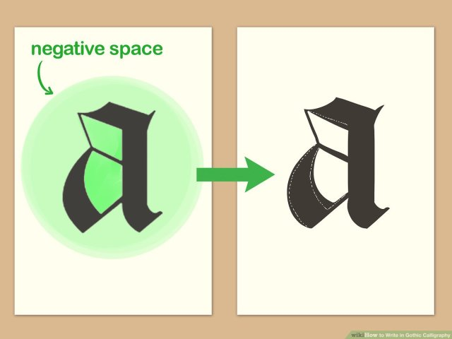 21 Ways to Write in Gothic Calligraphy - wikiHow