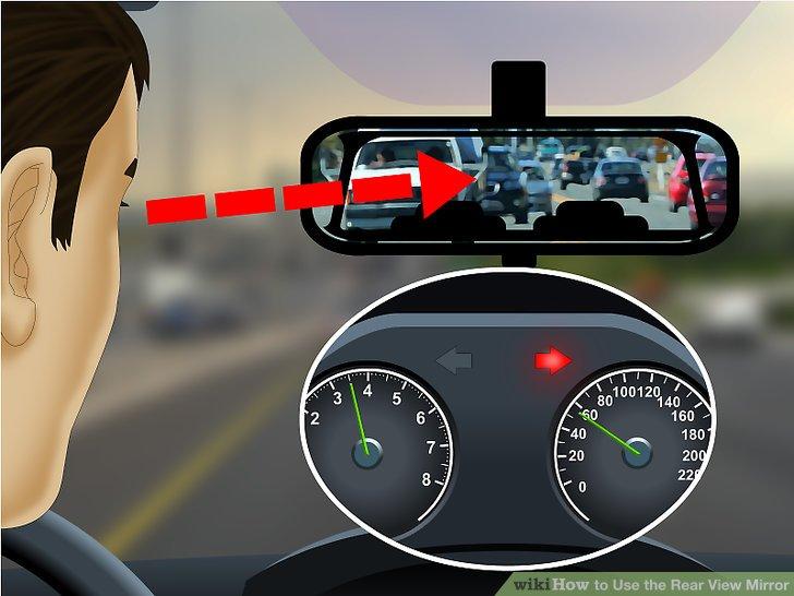 Schauen Sie in Ihren Rückspiegel, bevor Sie Ihre Position auf der Straße anpassen.