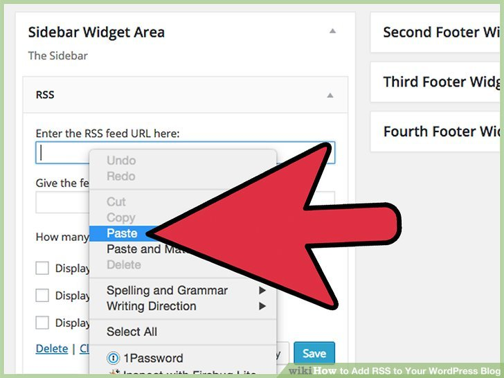 """Paste your RSS feed address in the new RSS box that says """"Enter the RSS feed URL here."""