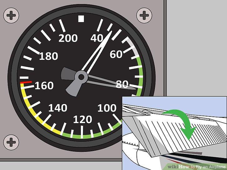 Reduzieren Sie die Fluggeschwindigkeit.