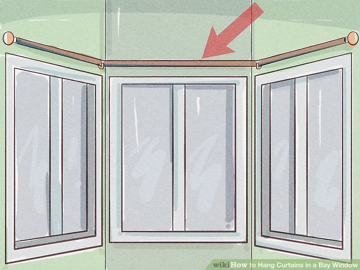 How to Hang Curtains in a Bay Window 13 Steps with Pictures