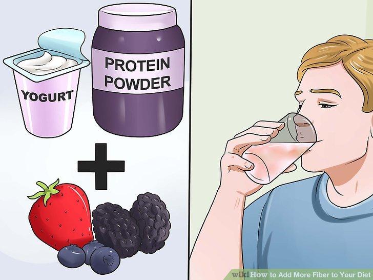 Fügen Sie einige Beeren in Ihren Proteinshake hinzu.