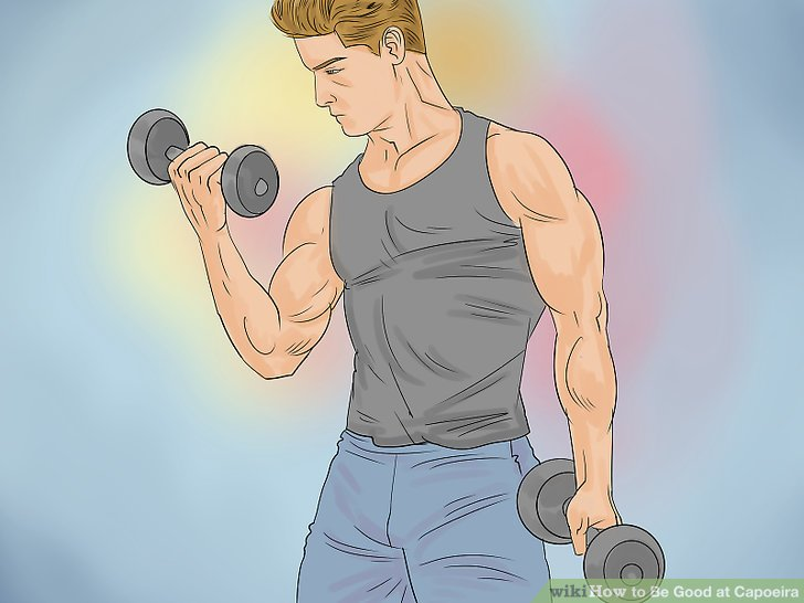 Build strength by lifting weights.