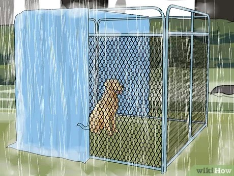 How To Build An Inexpensive Dog Kennel With Pictures Wikihow
