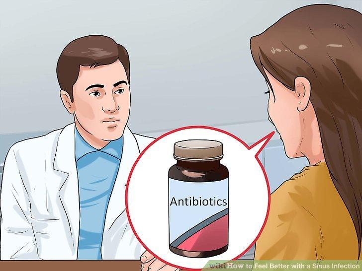 Fragen Sie Ihren Arzt nach Antibiotika gegen bakterielle Infektionen.