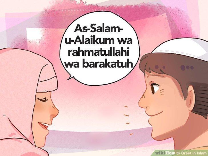 Begrüßen Sie Ihren muslimischen Kollegen, indem Sie ihnen Frieden wünschen.