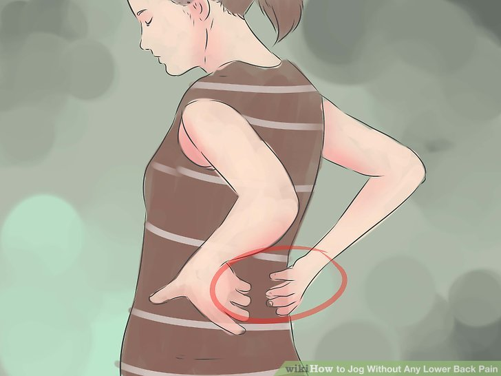 Stop jogging if you experience acute lower back pain.