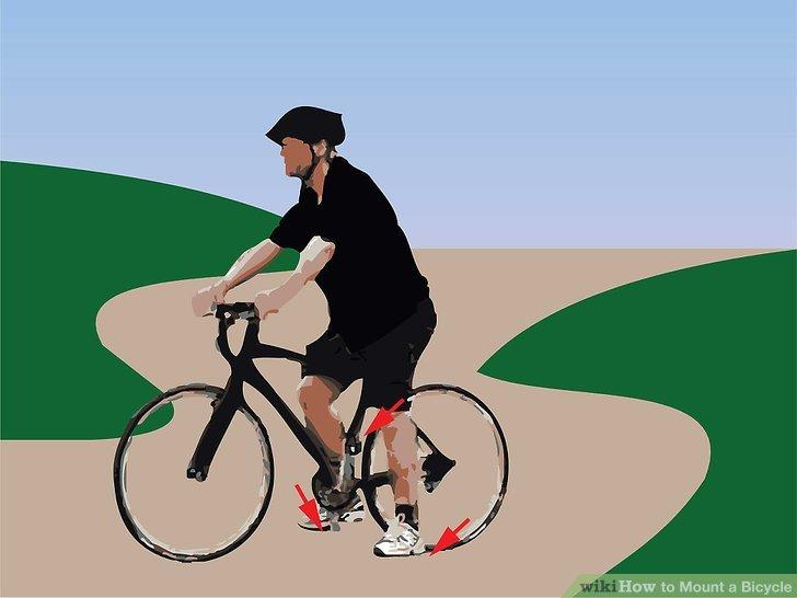 Positionieren Sie ein Pedal um 10:00 Uhr und setzen Sie Ihren Fuß auf das Pedal, während Sie sich etwas zur anderen Seite neigen.