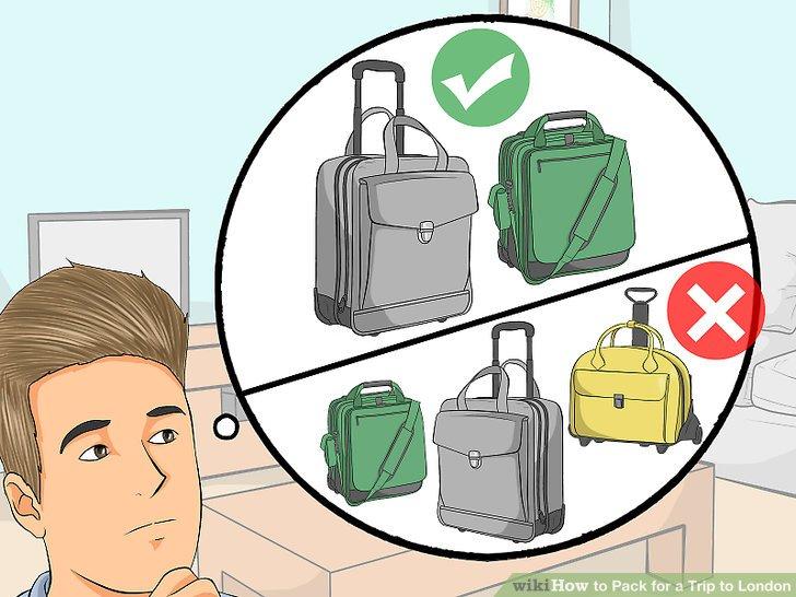 Beschränken Sie Ihr Gepäck auf Gepäck, das Sie bequem tragen können.