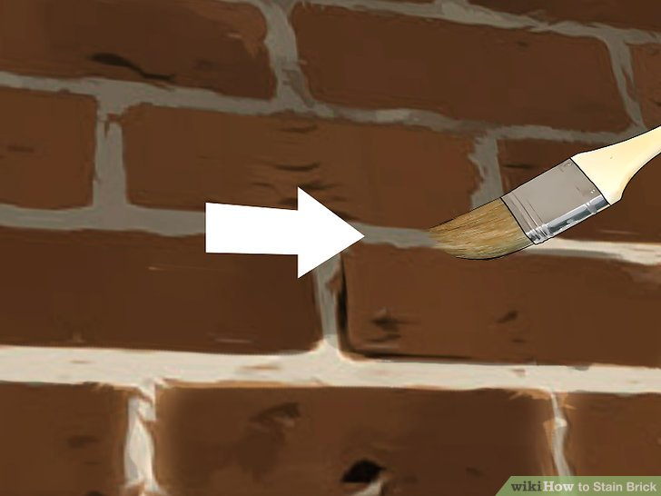 How to Stain Brick with Pictures  wikiHow