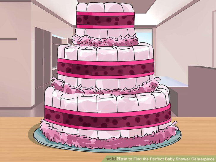 Add color to the tiers with decorative ribbons.