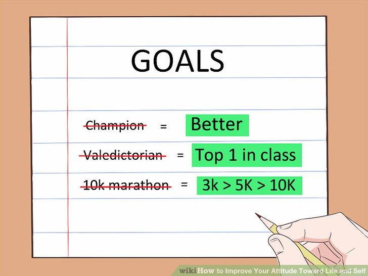 Setzen Sie sich vernünftige Ziele.