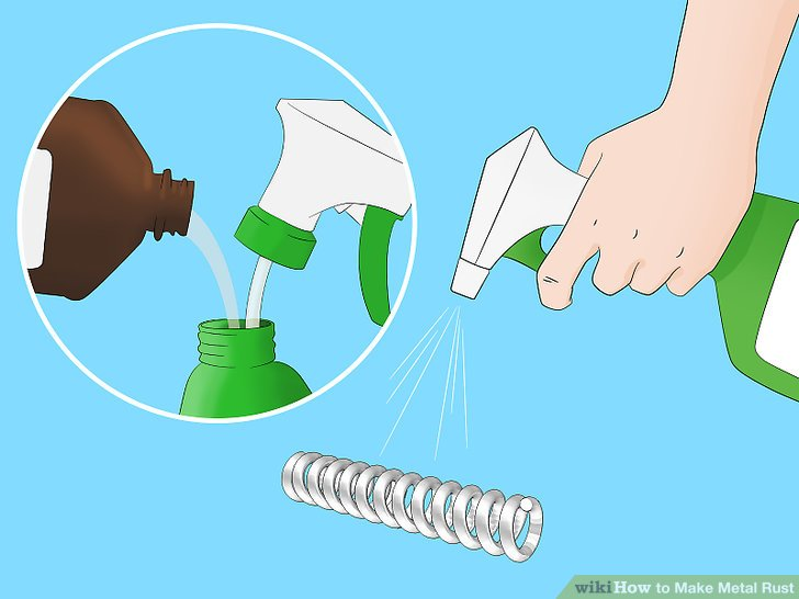 Transfer the peroxide to a spray bottle.