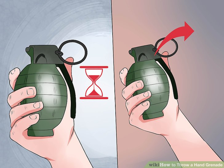 """Take extreme care when """"cooking off"""" your grenade."""