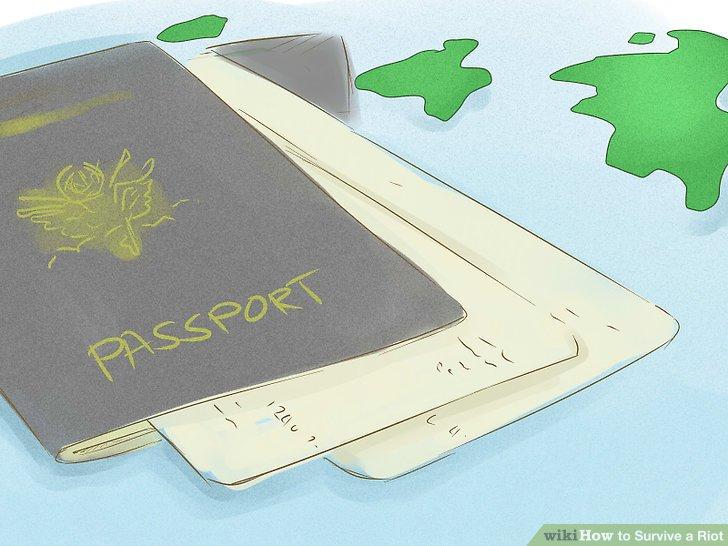 Bewahren Sie Ihre Dokumente auf, wenn Sie ins Ausland reisen.