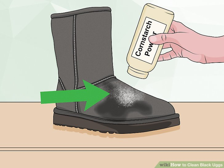Sprinkle cornstarch or talcum powder over your boots.
