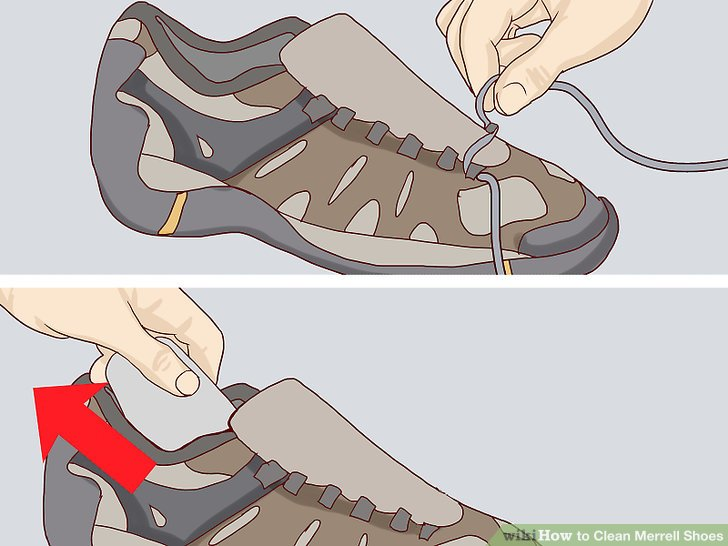Dry your shoes at room temperature.