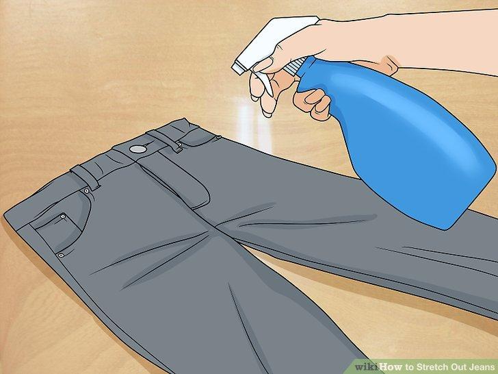 Leg deine Jeans auf den Boden.