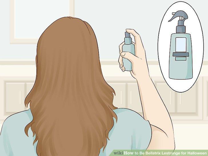 Spray heat protectant on your hair.