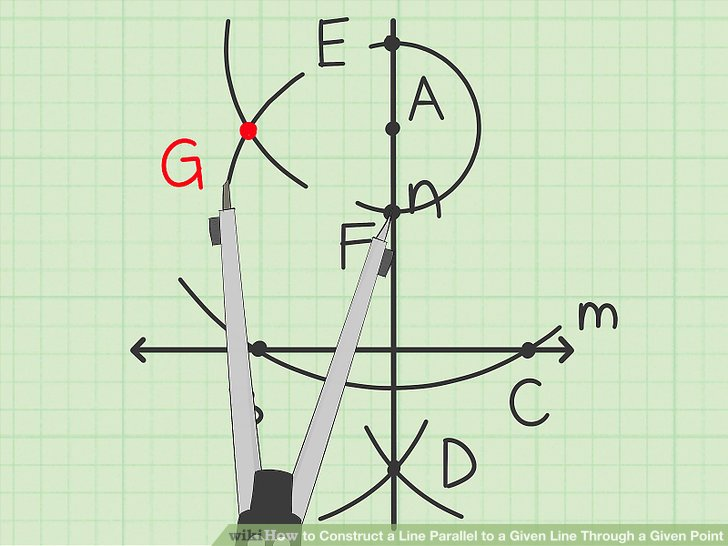 Draw a another small arc intersecting the previous one.