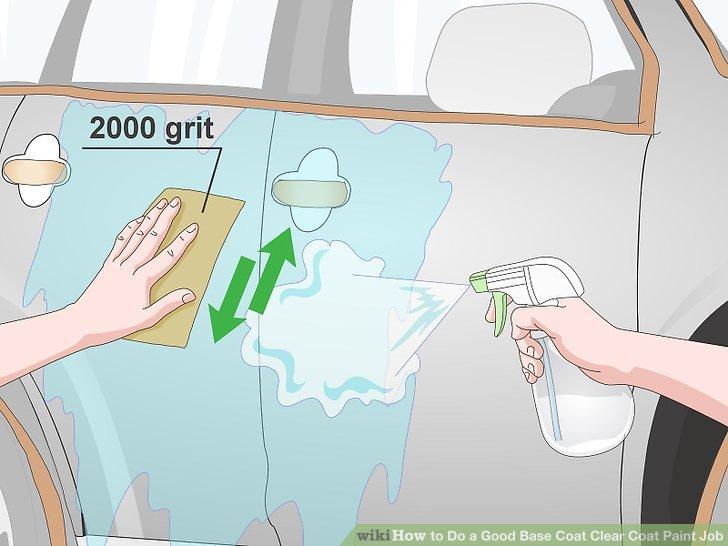 Astar kuruduktan sonra aracı 2000 kumlu ıslak zımpara kağıdı ile zımparalayın.