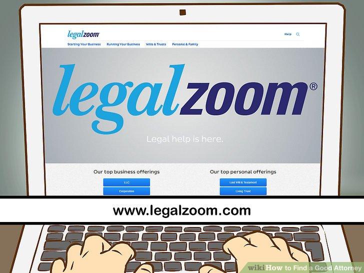 Überprüfen Sie die Online-Liste der Anwälte.