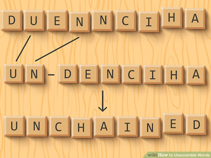 3 Ways to Unscramble Words  wikiHow