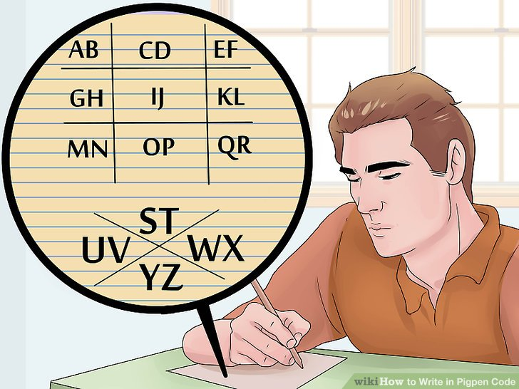 Write two letters of the alphabet in each space.