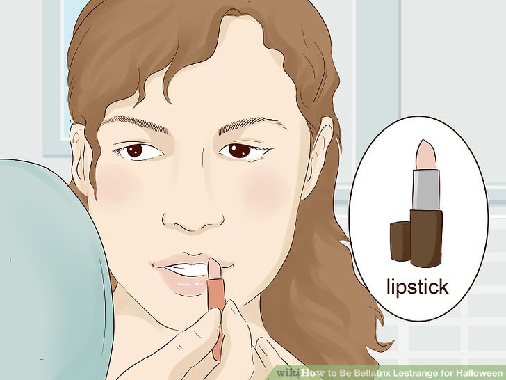 Go with a reddish-brownish lip color.