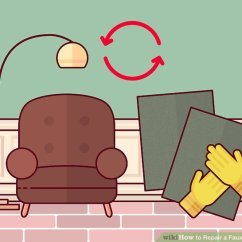 Pu Leather Sofa Repair Singapore Review 3 Ways To A Faux Wikihow Image Titled Step 1
