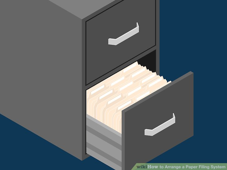 3 Ways to Arrange a Paper Filing System  wikiHow