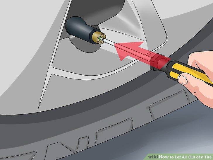 Drücken Sie die Spitze eines Schraubendrehers auf den Metallstift.