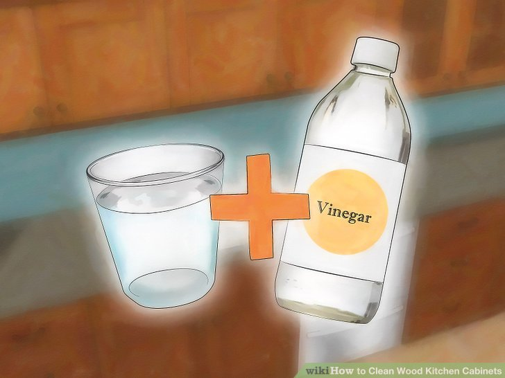 cleaning kitchen cabinets ceiling exhaust fan 3 ways to clean wood wikihow image titled step 1