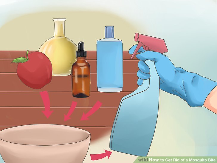 Make a mosquito spray with natural oils and vinegar.
