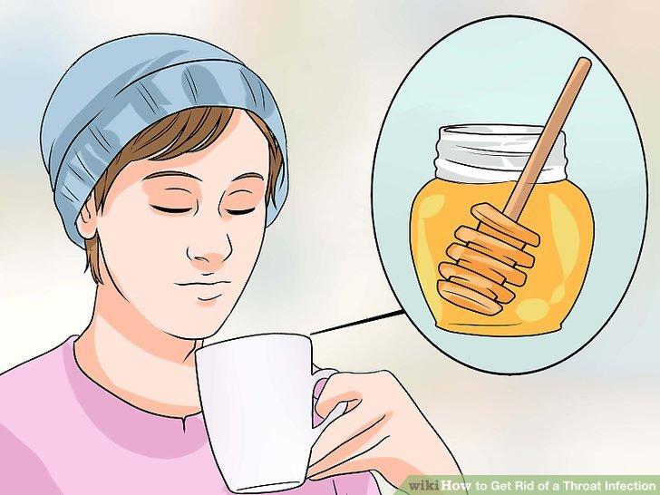 Drink honey and lemon juice to soothe throat irritation.