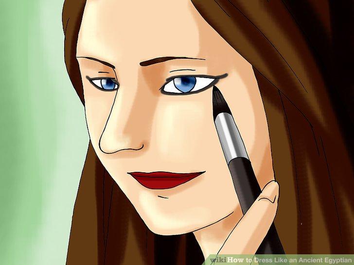 Göz kalemi kullanarak gözü şekillendirin.